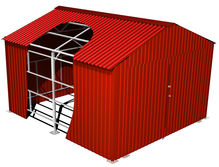 GARAJ METALIC - Detalii Constructie - BEL 1