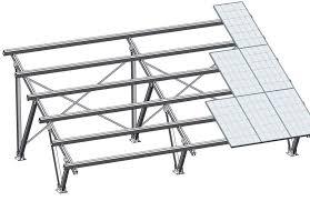 Structura metalica - Panouri solare - BEL 3